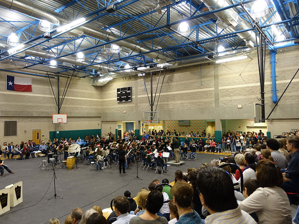 Standing Room Only at the Bradley MS Holiday Concert on 12/15/2015