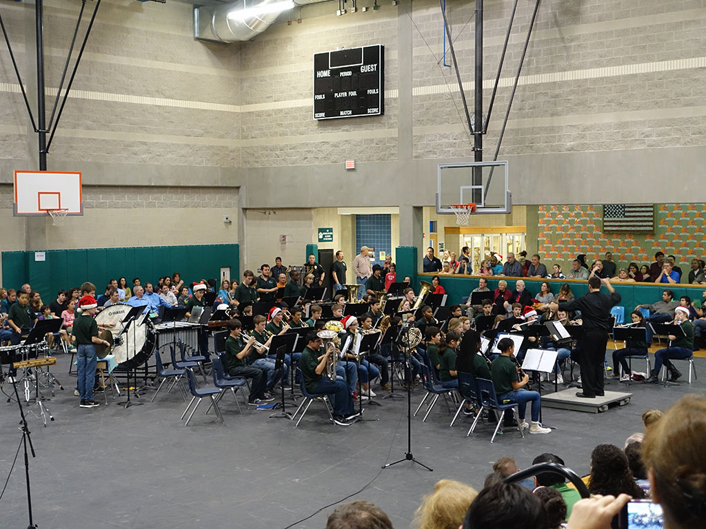 Beginning Band - Bradley MS Holiday Concert on 12/15/2015