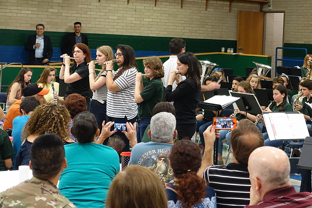 'Stars and Stripes Forever,' an annual tradition at the Bradley Middle School Homecoming Concert