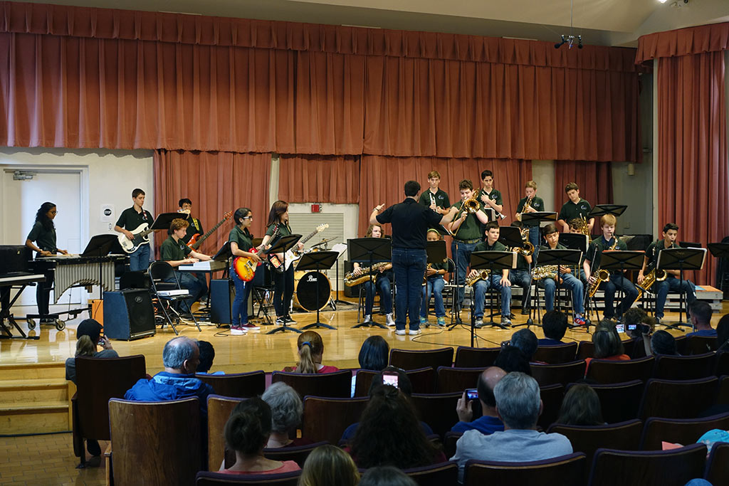 Jazz Band 1 performs at Fiesta Jazz Festiival on April 29, 2017