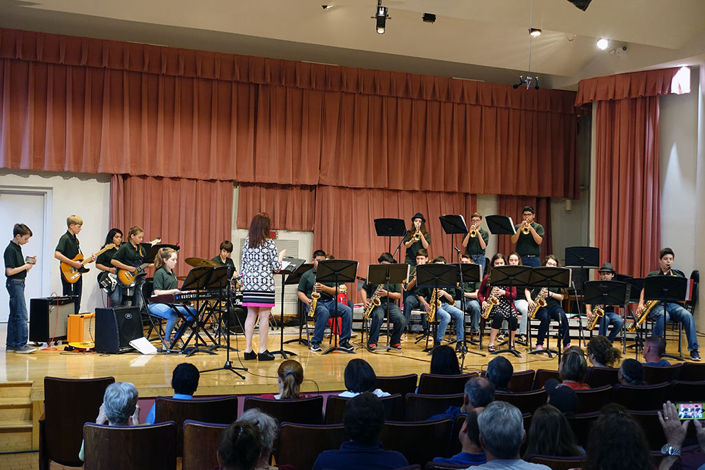 Jazz Band 2 performs at Fiesta Jazz Festival on April 29, 2017