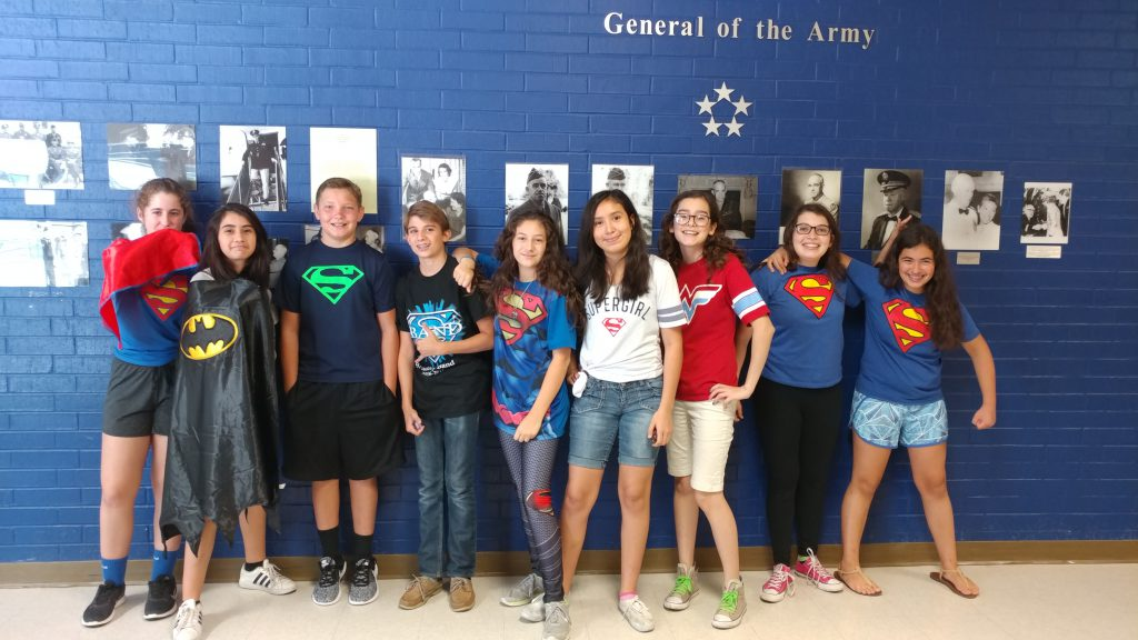 Bradley Band Camp 2017 Super Heroes Day-7th and 8th Grade