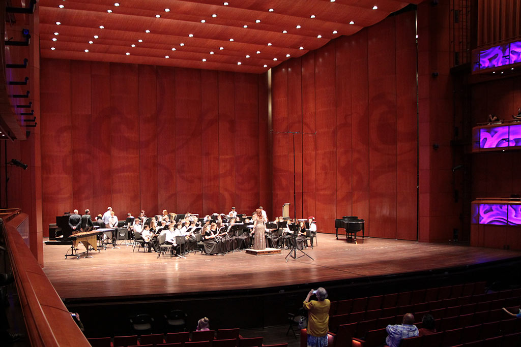 Bradley MS Honor Band performs at the YOSA Invitational held at the Tobin Center on May 15, 2017