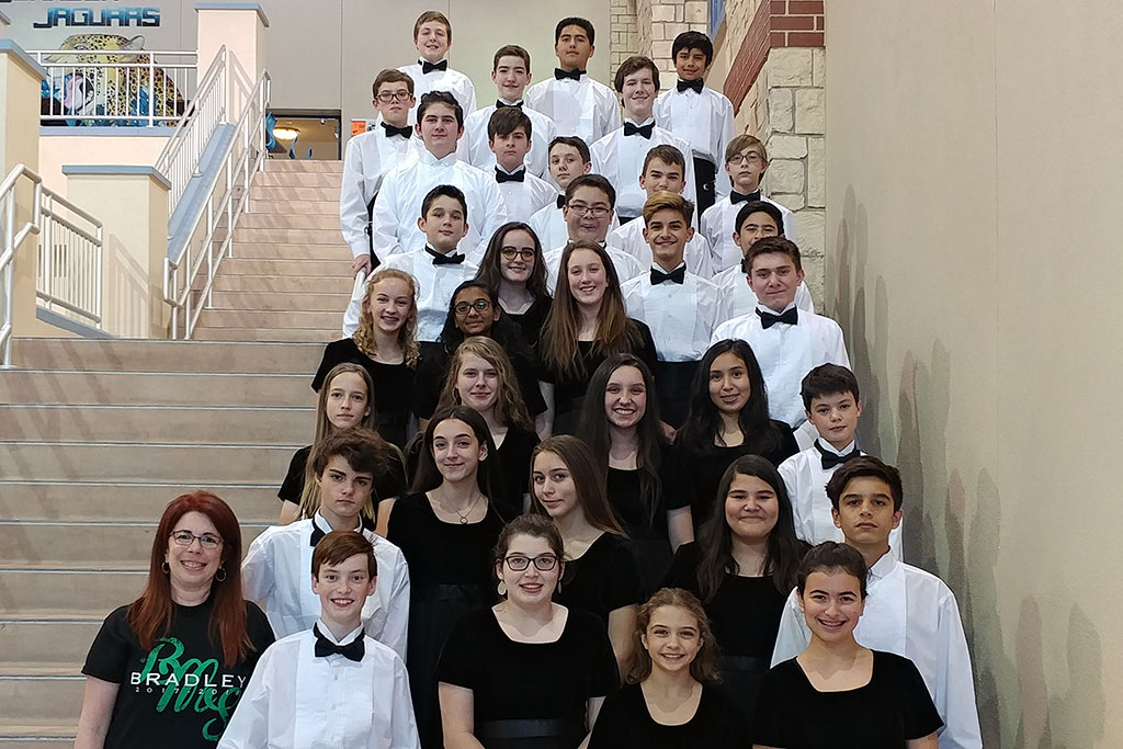 2017-2018 Bradley Middle School Region Band Members