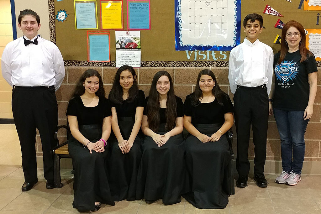 2017-2018 Bradley MS Band Students Qualifying for Region Orchestra