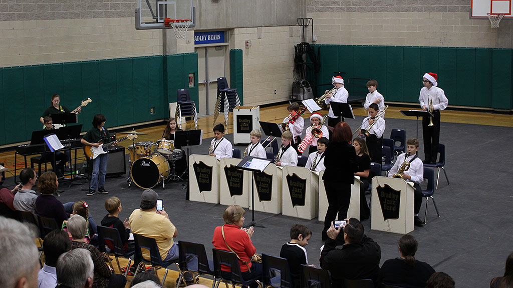 December 12, 2018 - Bradley MS Jazz Band 2 performs at the Holiday Christmas Concert