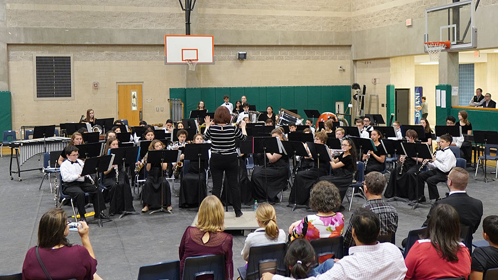 March 19, 2019 - Bradley MS Honor Band Performs at the Pre-UIL Concert