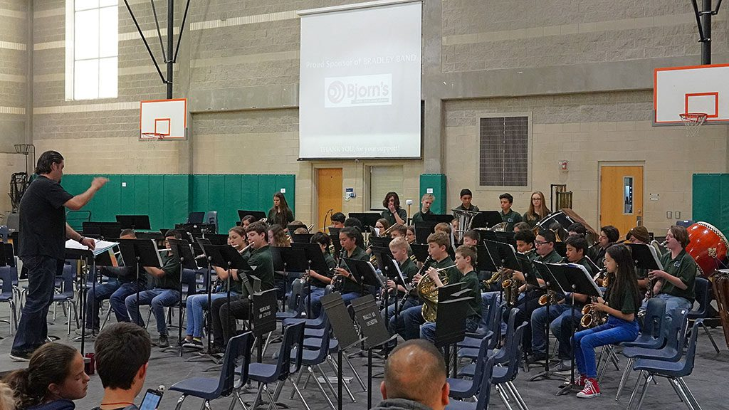 2019-04-01 Bradley MS Symphonic Band Performing at the Spaghetti Dinner Concert