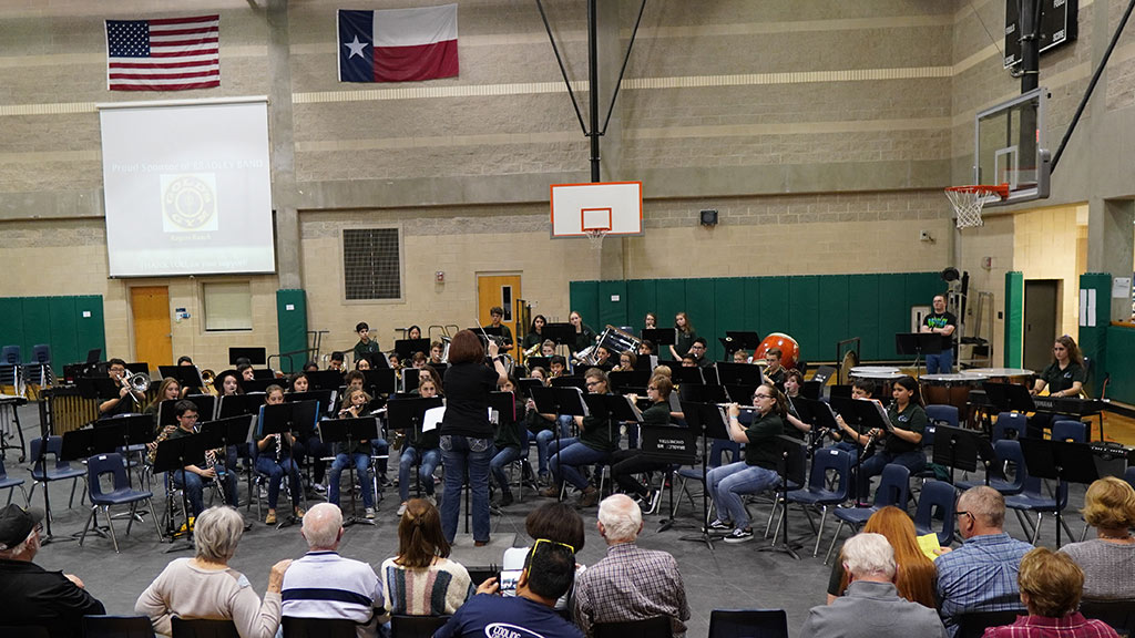 April 1, 2019 - Emily Gurwitz conducting the Bradley MS Honor Band at the Spaghetti Dinner Concert