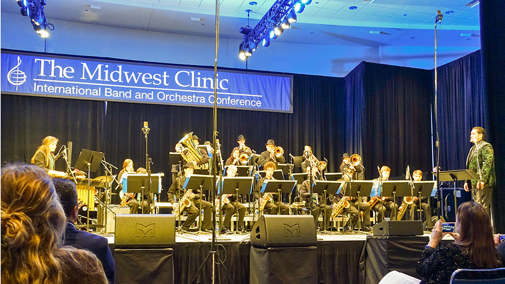 2019-12-18 Bradley Middle School Jazz Band 1 Performs at the Midwest Clinic in Chicago.